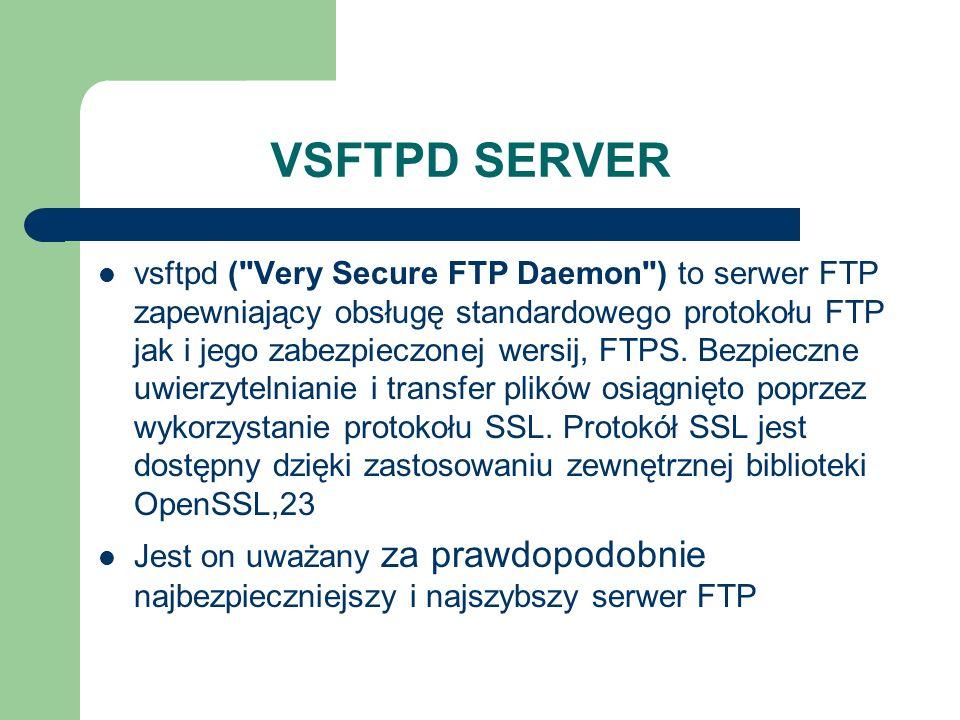 VSFTPD SERVER vsftpd (