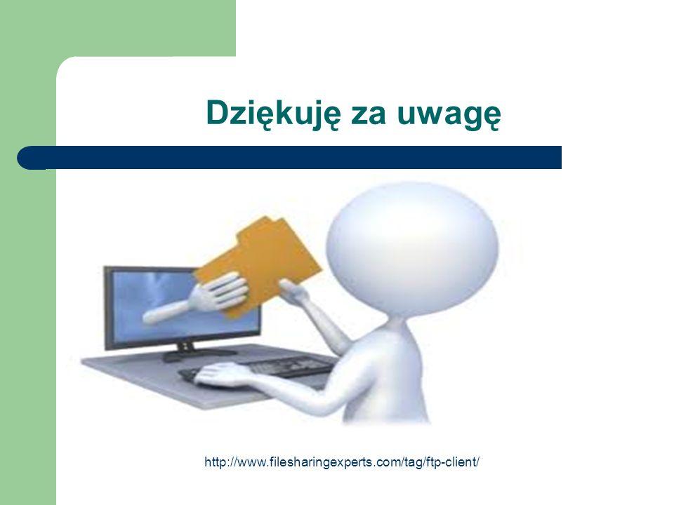 Dziękuję za uwagę http://www.filesharingexperts.com/tag/ftp-client/