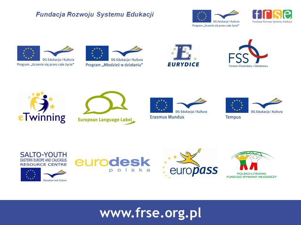 PROGRAM LEONARDO DA VINCI PROGRAM UCZENIE SIĘ PRZEZ CAŁE ŻYCIE www.frse.org.pl Fundacja Rozwoju Systemu Edukacji