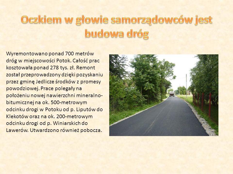 Wyremontowano ponad 700 metrów dróg w miejscowości Potok.