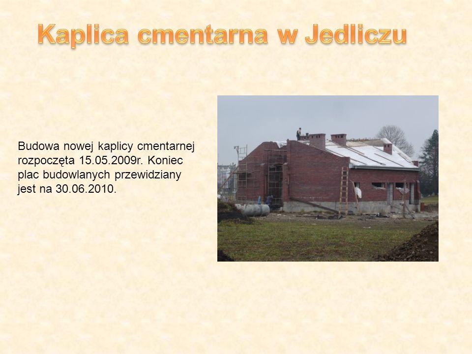 Budowa nowej kaplicy cmentarnej rozpoczęta 15.05.2009r.