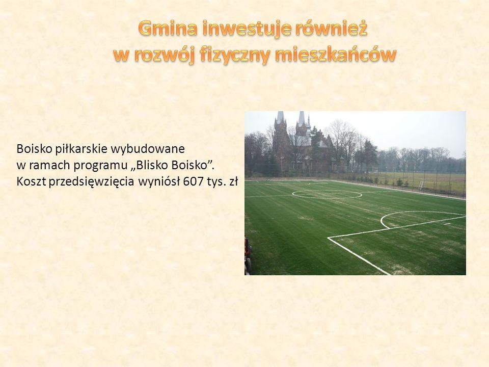 Boisko piłkarskie wybudowane w ramach programu Blisko Boisko.