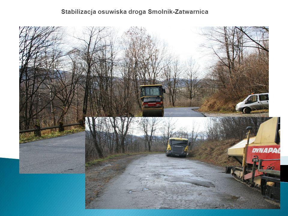 Stabilizacja osuwiska droga Smolnik-Zatwarnica