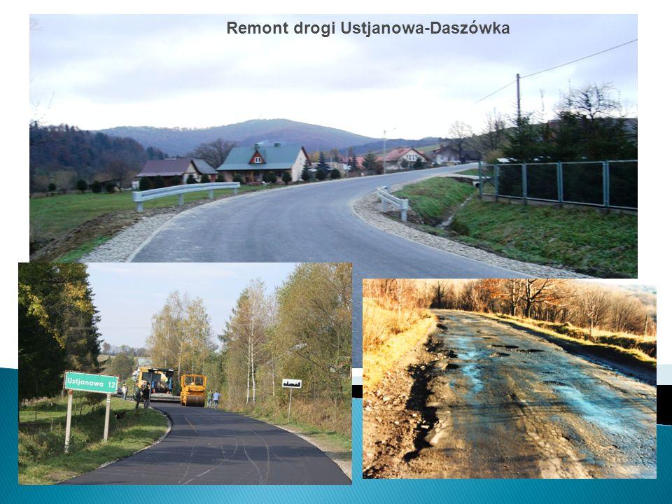 Remont drogi Ustjanowa-Daszówka