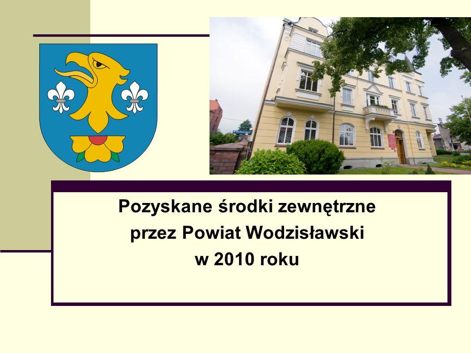 Pozyskane środki zewnętrzne przez Powiat Wodzisławski w 2010 roku