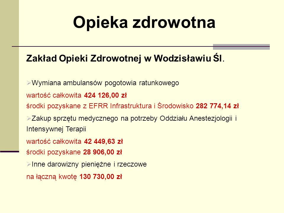 Opieka zdrowotna Zakład Opieki Zdrowotnej w Wodzisławiu Śl.