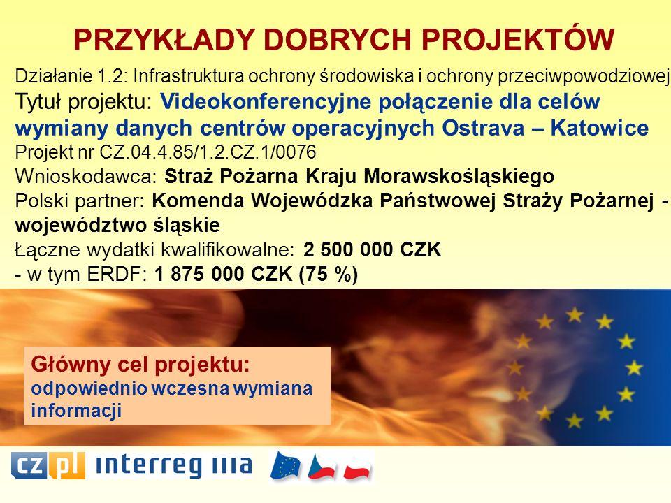 PRZYKŁADY DOBRYCH PROJEKTÓW Działanie 1.2: Infrastruktura ochrony środowiska i ochrony przeciwpowodziowej Tytuł projektu: Videokonferencyjne połączeni