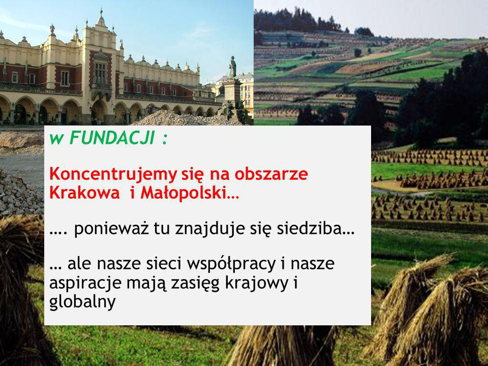 produktlokalny.pl w FUNDACJI : Koncentrujemy się na obszarze Krakowa i Małopolski… ….
