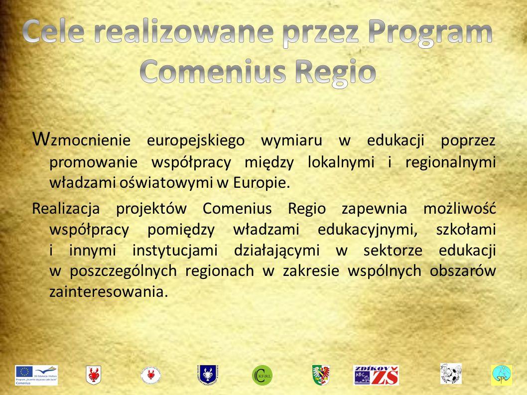 W zmocnienie europejskiego wymiaru w edukacji poprzez promowanie współpracy między lokalnymi i regionalnymi władzami oświatowymi w Europie.