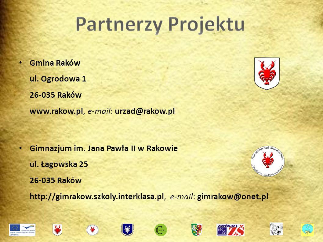 Gmina Raków ul. Ogrodowa 1 26-035 Raków www.rakow.pl, e-mail: urzad@rakow.pl Gimnazjum im.