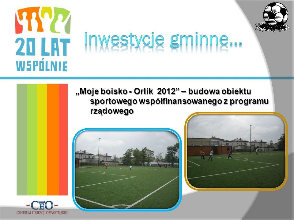 Moje boisko - Orlik 2012 – budowa obiektu sportowego współfinansowanego z programu rządowego