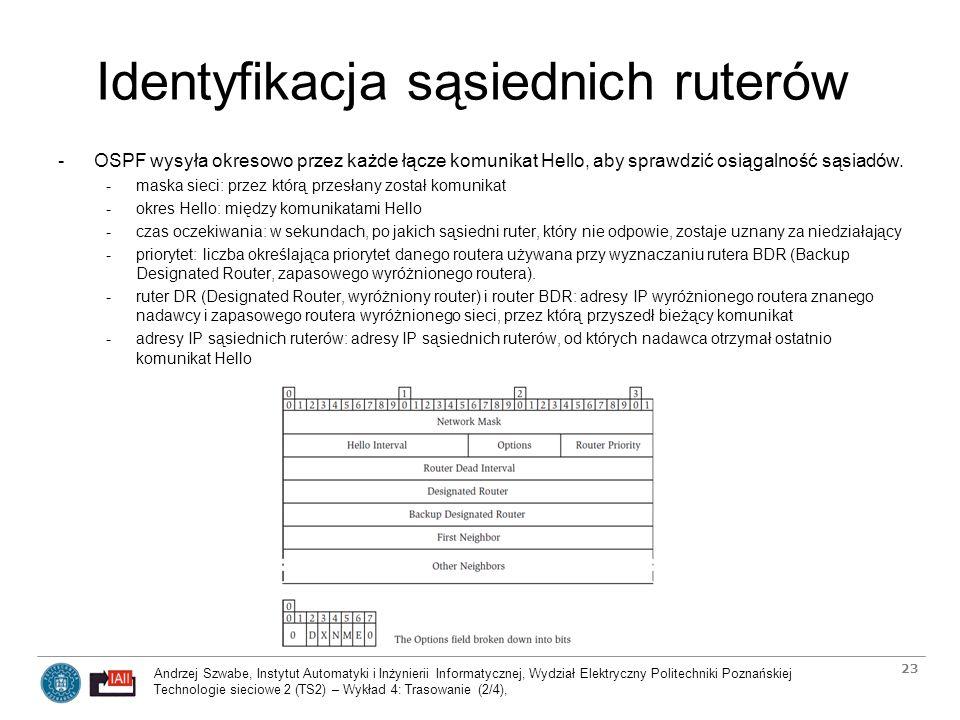 Andrzej Szwabe, Instytut Automatyki i Inżynierii Informatycznej, Wydział Elektryczny Politechniki Poznańskiej Technologie sieciowe 2 (TS2) – Wykład 4: