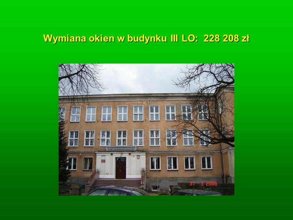 Wymiana okien w budynku III LO: 228 208 zł