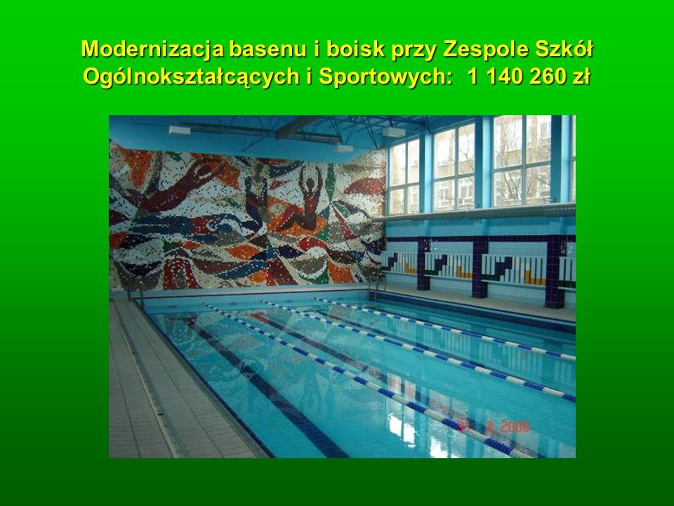 Modernizacja basenu i boisk przy Zespole Szkół Ogólnokształcących i Sportowych: 1 140 260 zł