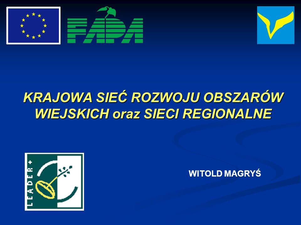 SIECI REGIONALNE w Polsce: Partnerstwa Polski Południowo-Zachodniej Partnerstwa Polski Południowo-Zachodniej Małopolska Sieć LGD Małopolska Sieć LGD SILESIAN LEADER NETWORK SILESIAN LEADER NETWORK Kujawsko-Pomorska Sieć Współpracy LEADER+ Kujawsko-Pomorska Sieć Współpracy LEADER+ powstają kolejne powstają kolejne PRZYKŁADY - STAN OBECNY