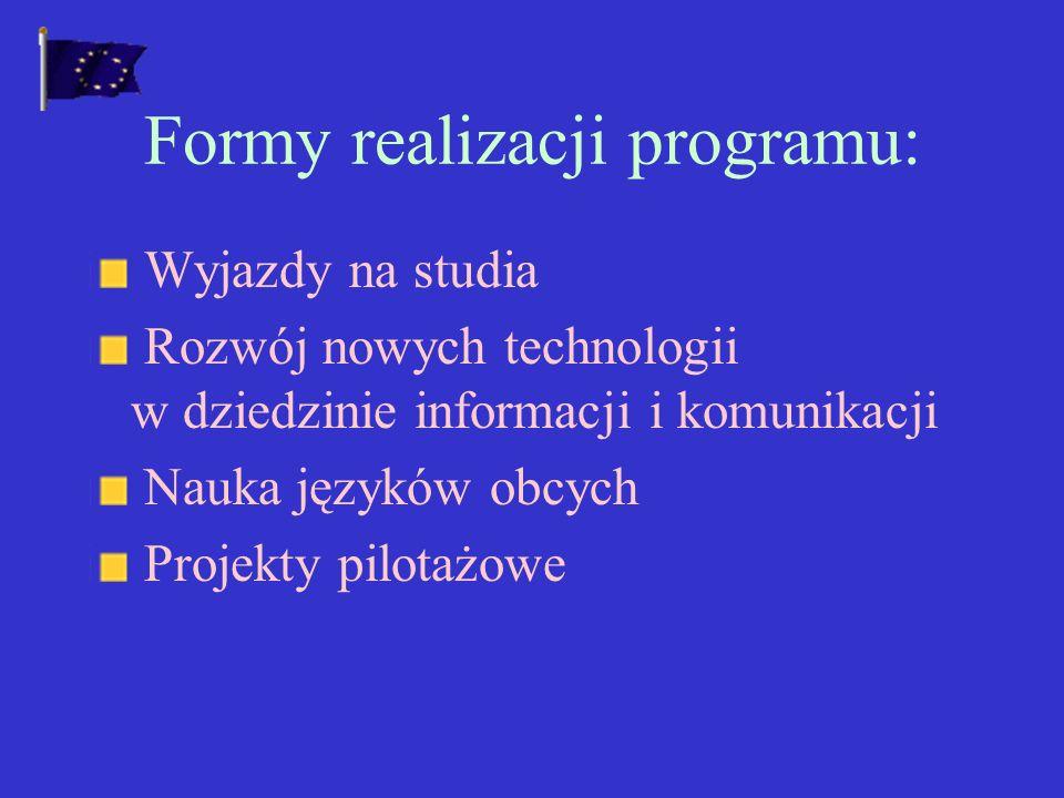 PROGRAM SOKRATES Polska przystąpiła do programu Socrates w marcu 1998.
