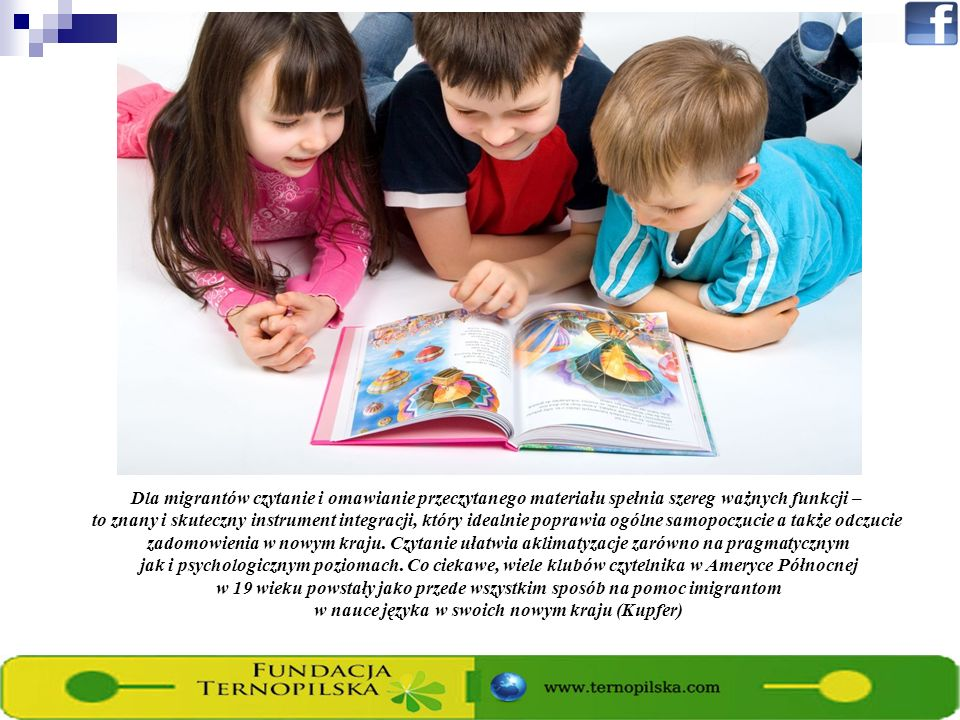 Dla migrantów czytanie i omawianie przeczytanego materiału spełnia szereg ważnych funkcji – to znany i skuteczny instrument integracji, który idealnie