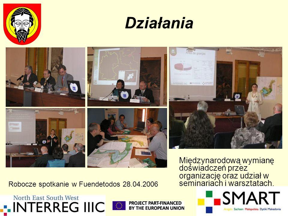 Działania Międzynarodową wymianę doświadczeń przez organizację oraz udział w seminariach i warsztatach. Robocze spotkanie w Fuendetodos 28.04.2006