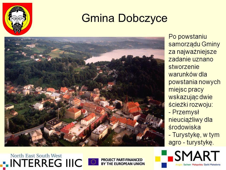 Gmina Dobczyce Po powstaniu samorządu Gminy za najważniejsze zadanie uznano stworzenie warunków dla powstania nowych miejsc pracy wskazując dwie ścież