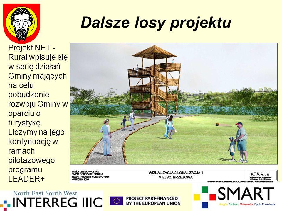 Dalsze losy projektu Projekt NET - Rural wpisuje się w serię działań Gminy mających na celu pobudzenie rozwoju Gminy w oparciu o turystykę. Liczymy na