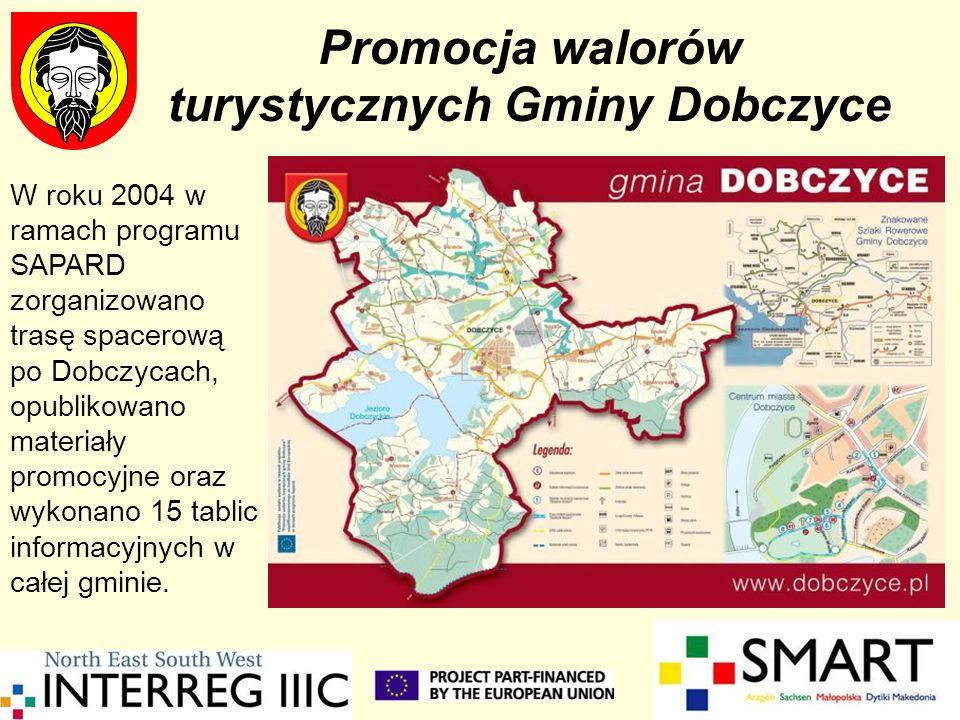 Promocja walorów turystycznych Gminy Dobczyce W roku 2004 w ramach programu SAPARD zorganizowano trasę spacerową po Dobczycach, opublikowano materiały