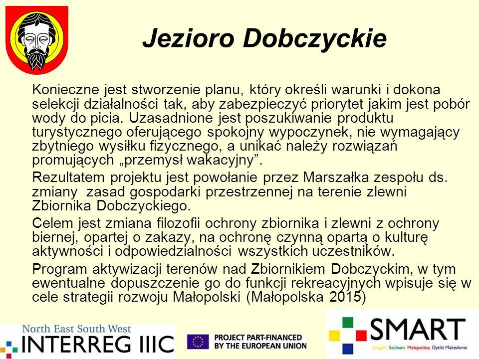 SMART w Dobczycach Dążąc do nowego zdefiniowania zasad ochrony Zbiornika Dobczyckiego przygotowaliśmy projekt Zainicjowanie nowych kierunków rozwoju gospodarczego gmin leżących nad Zbiornikiem Dobczyckim przez rozszerzenie jego funkcji o eko-turystykę i we wrześniu 2005 roku zgłosiliśmy go do programu SMART.