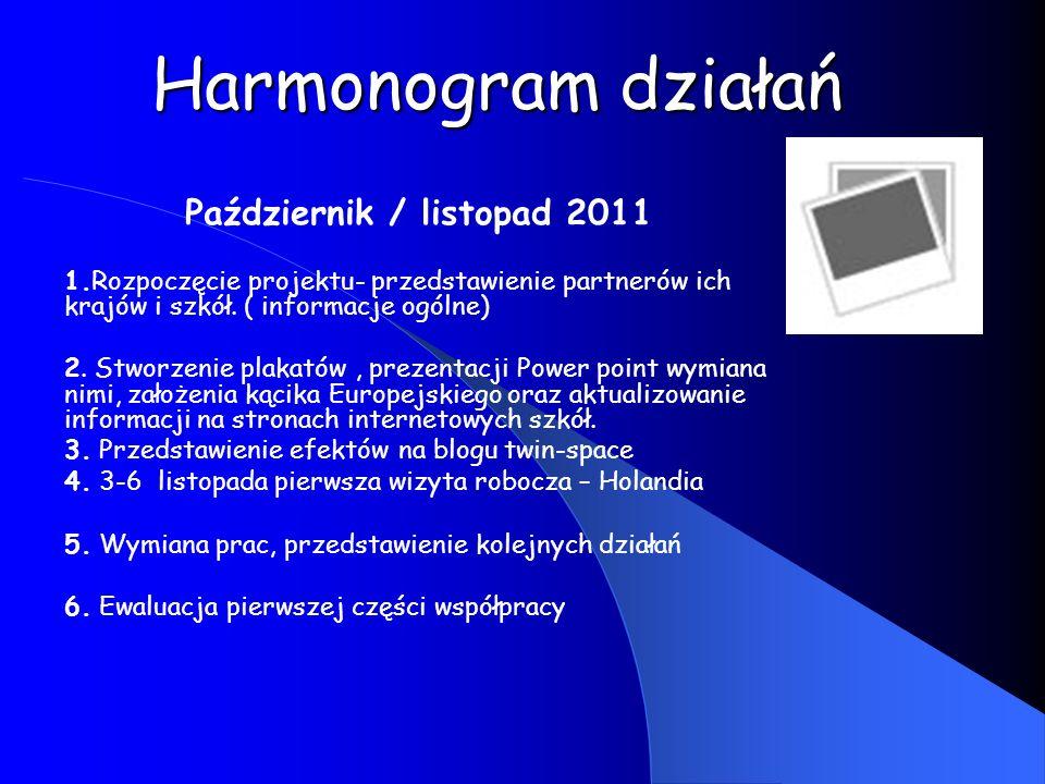 Styczeń/ luty 2012 1.Wystawa w szkołach efektów pracy, materiałów ze spotkania w Holandii.