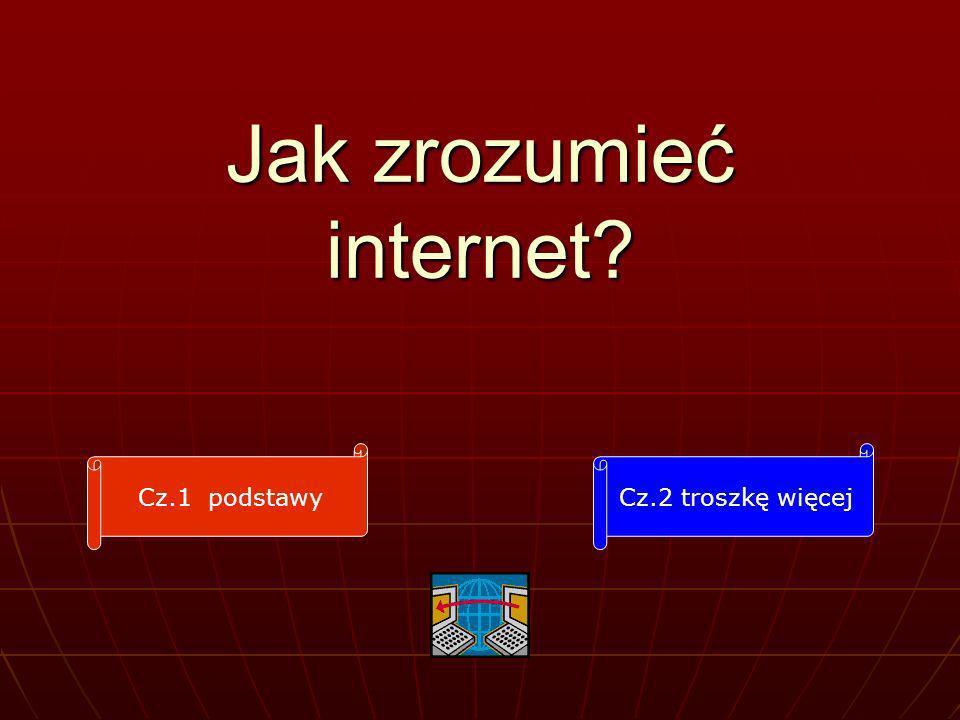 Jak zrozumieć internet? Cz.1 podstawyCz.2 troszkę więcej