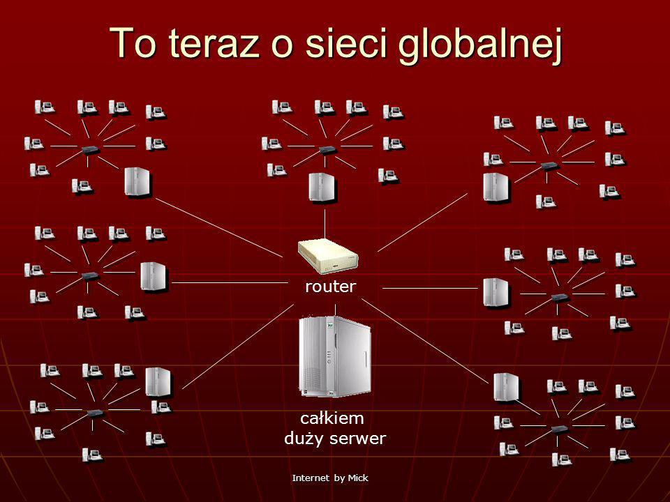 Internet by Mick To teraz o sieci globalnej całkiem duży serwer router
