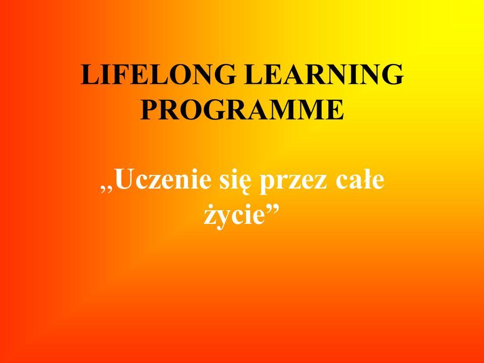 LIFELONG LEARNING PROGRAMME Uczenie się przez całe życie