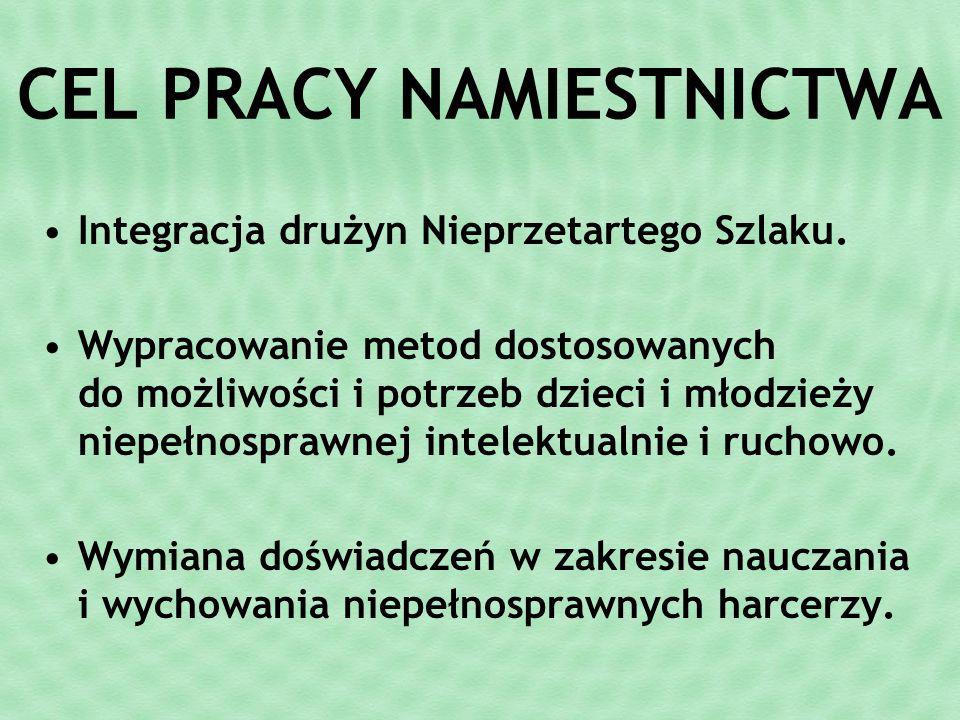 CEL PRACY NAMIESTNICTWA Integracja drużyn Nieprzetartego Szlaku.