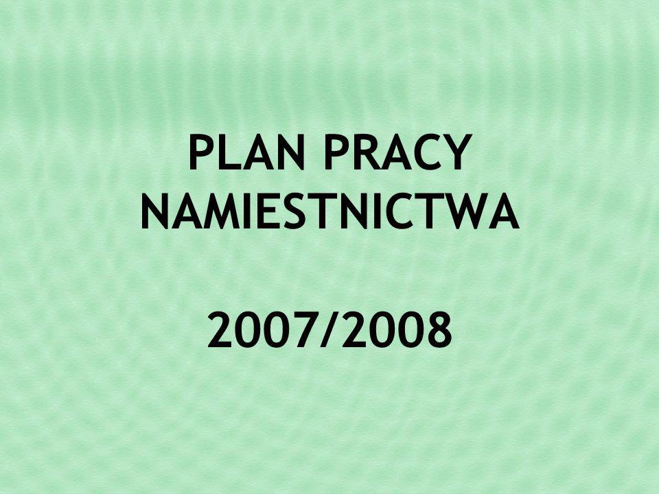 WRZESIEŃ Spotkanie drużynowych NS omówienie Planu pracy namiestnictwa na rok 2007/2008 (ustalenie wspólnych zadań, osób odpowiedzialnych oraz wnioski do PFRONU i UM – Szukamy sponsorów).