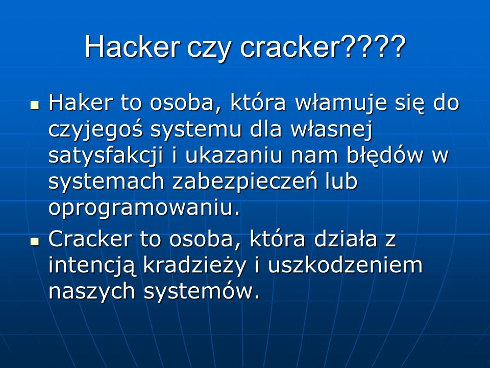 Techniki powodujące zagrożenie Błędy użytkownika systemu Błędy użytkownika systemu Błędy administratora Błędy administratora Niepoprawne oprogramowani