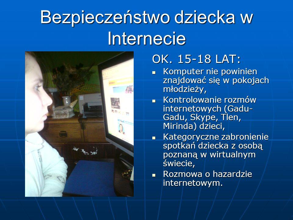 Bezpieczeństwo dziecka w Internecie OK.