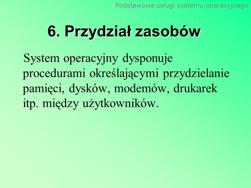 Podstawowe usługi systemu operacyjnego 7.