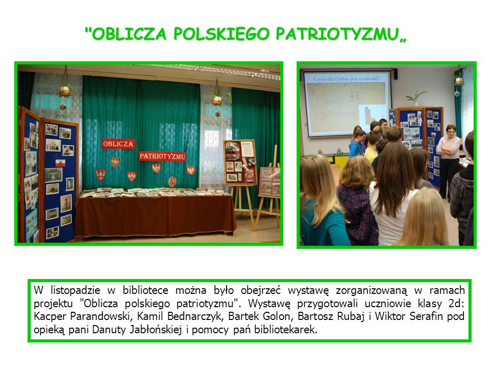 W listopadzie w bibliotece można było obejrzeć wystawę zorganizowaną w ramach projektu