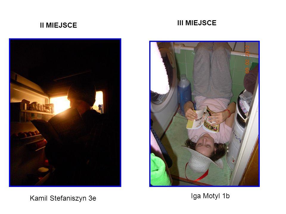 II MIEJSCE Kamil Stefaniszyn 3e III MIEJSCE Iga Motyl 1b