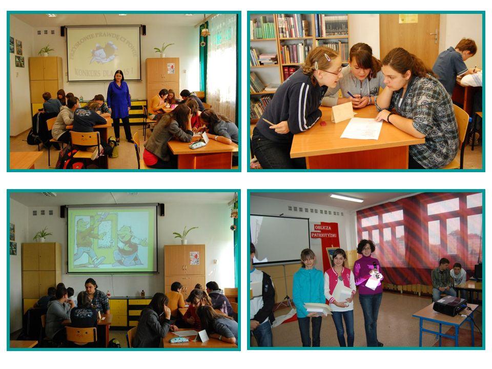 Uczniowie uczestniczący w zajęciach koła Origami i Warsztatach Tworzenia Biżuterii działających przy bibliotece szkolnej Gimnazjum nr 3 w Świdniku przekazali swoje prace na rzecz Hospicjum im.