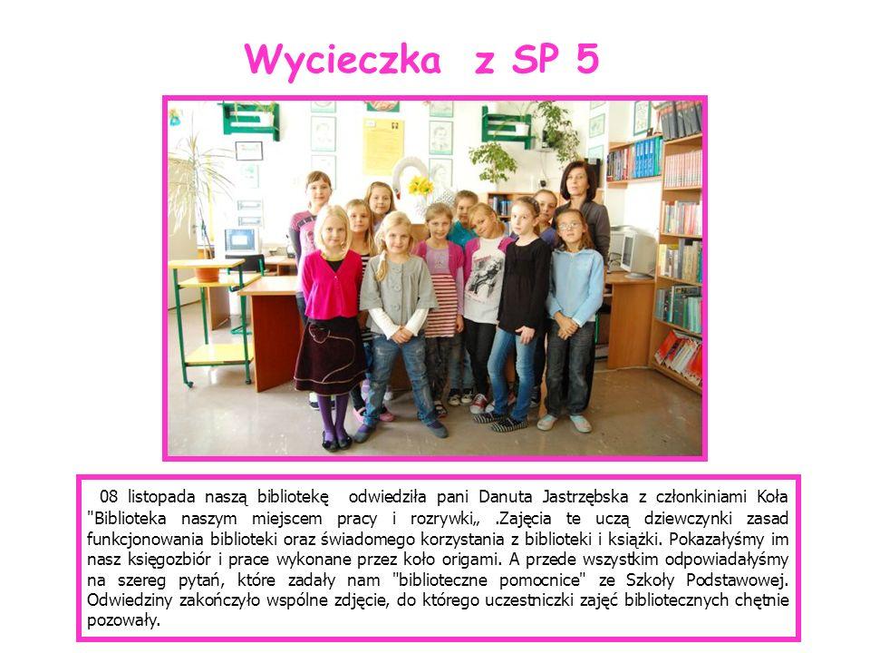 08 listopada naszą bibliotekę odwiedziła pani Danuta Jastrzębska z członkiniami Koła