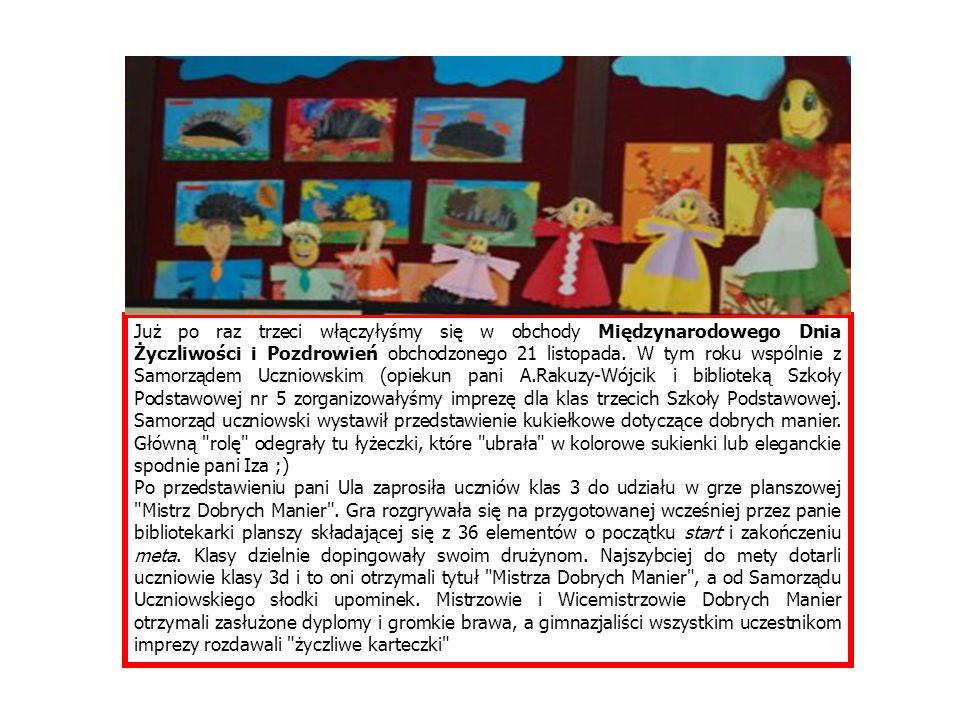 I MIEJSCE Izabela Wilk 2f Adrianna Soszyńska 2a