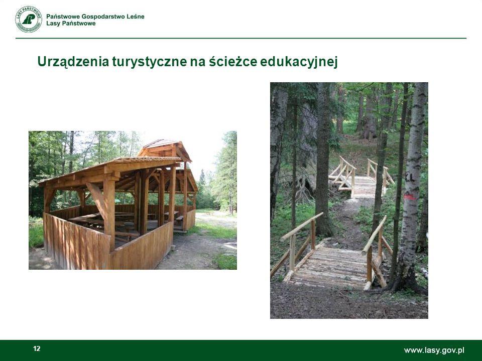 12 Urządzenia turystyczne na ścieżce edukacyjnej