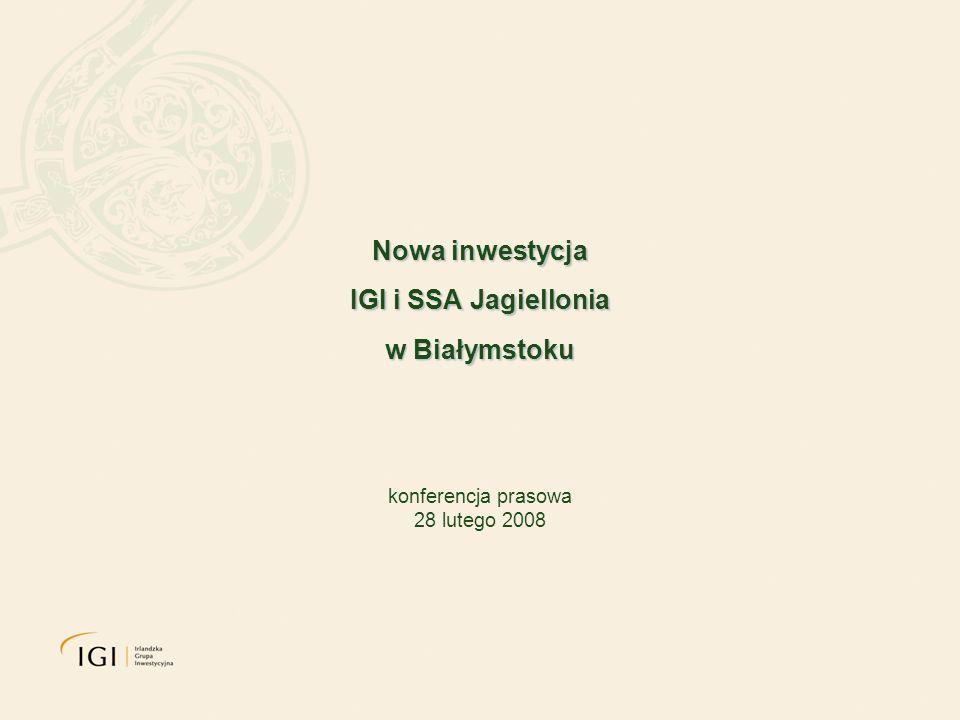 Nowa inwestycja IGI i SSA Jagiellonia w Białymstoku konferencja prasowa 28 lutego 2008