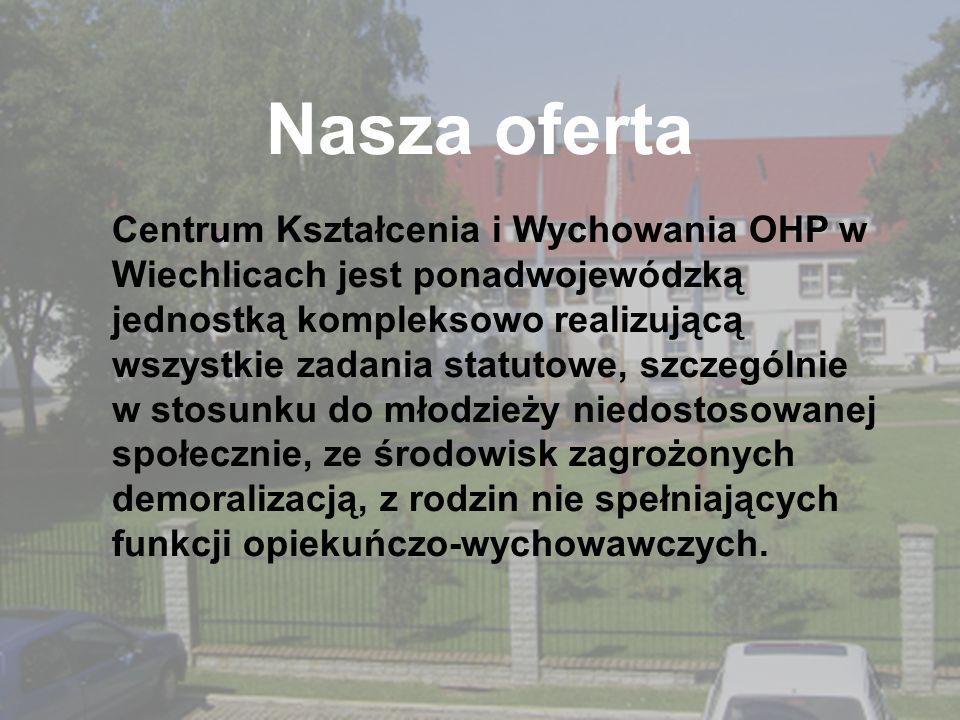 Nasza oferta Centrum Kształcenia i Wychowania OHP w Wiechlicach jest ponadwojewódzką jednostką kompleksowo realizującą wszystkie zadania statutowe, sz