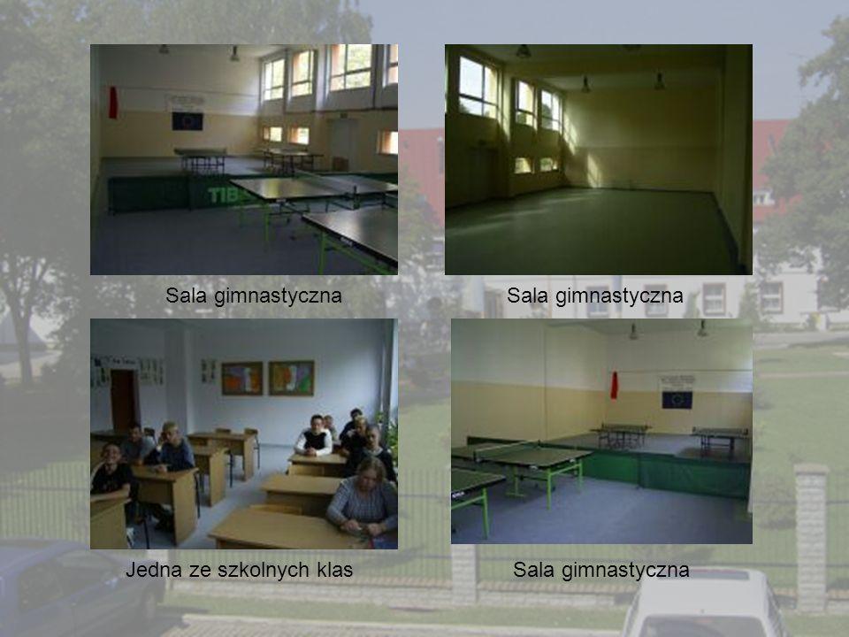 Sala gimnastyczna Jedna ze szkolnych klas