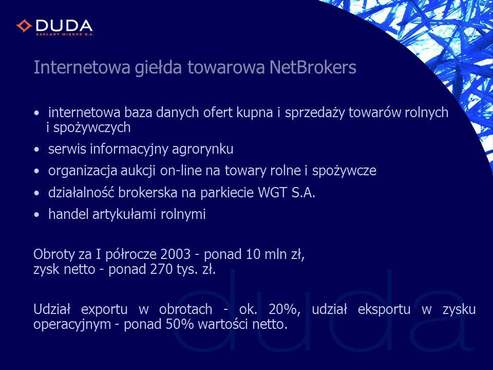 Internetowa giełda towarowa NetBrokers internetowa baza danych ofert kupna i sprzedaży towarów rolnych i spożywczych serwis informacyjny agrorynku org