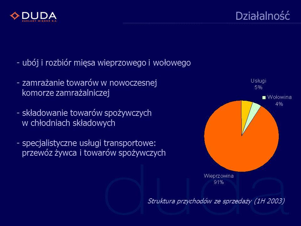 (na podstawie opublikowanych sprawozdań kwartalnych) Wyniki ZM DUDA SA + + + + + +