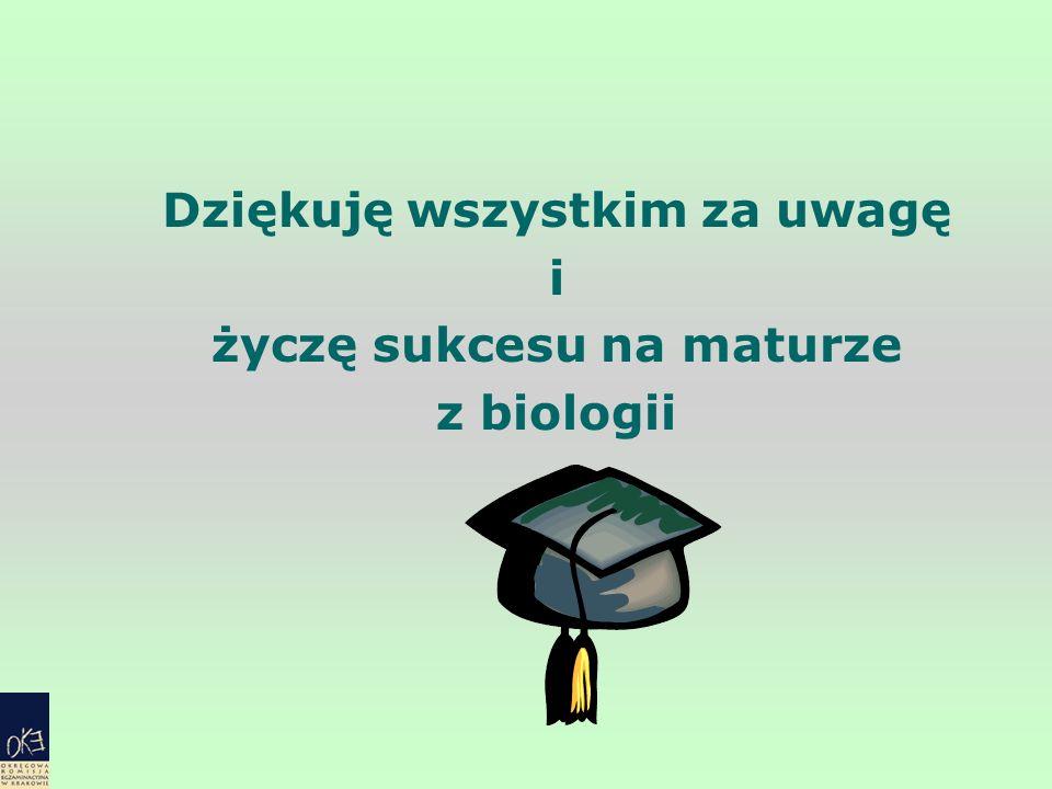 Dziękuję wszystkim za uwagę i życzę sukcesu na maturze z biologii