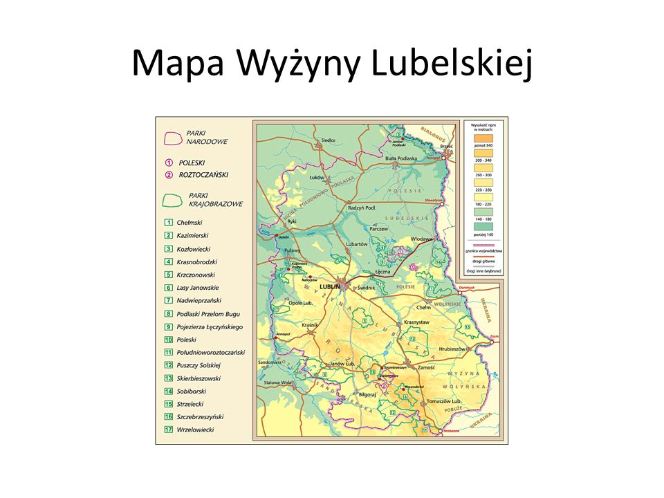 Mapa Wyżyny Lubelskiej