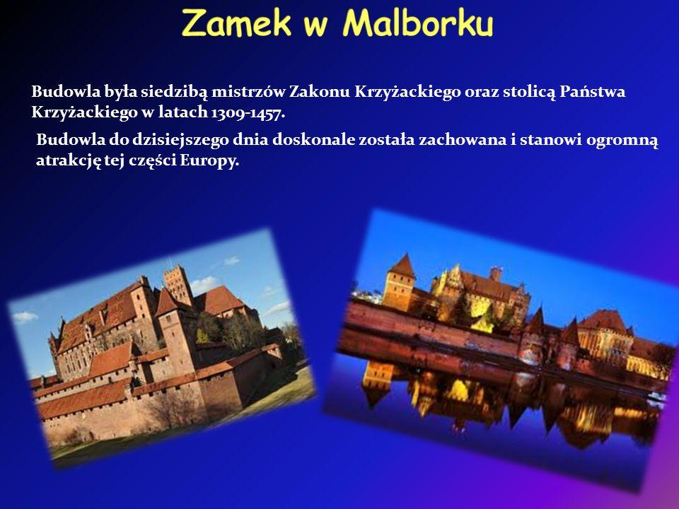 Budowla była siedzibą mistrzów Zakonu Krzyżackiego oraz stolicą Państwa Krzyżackiego w latach 1309-1457.