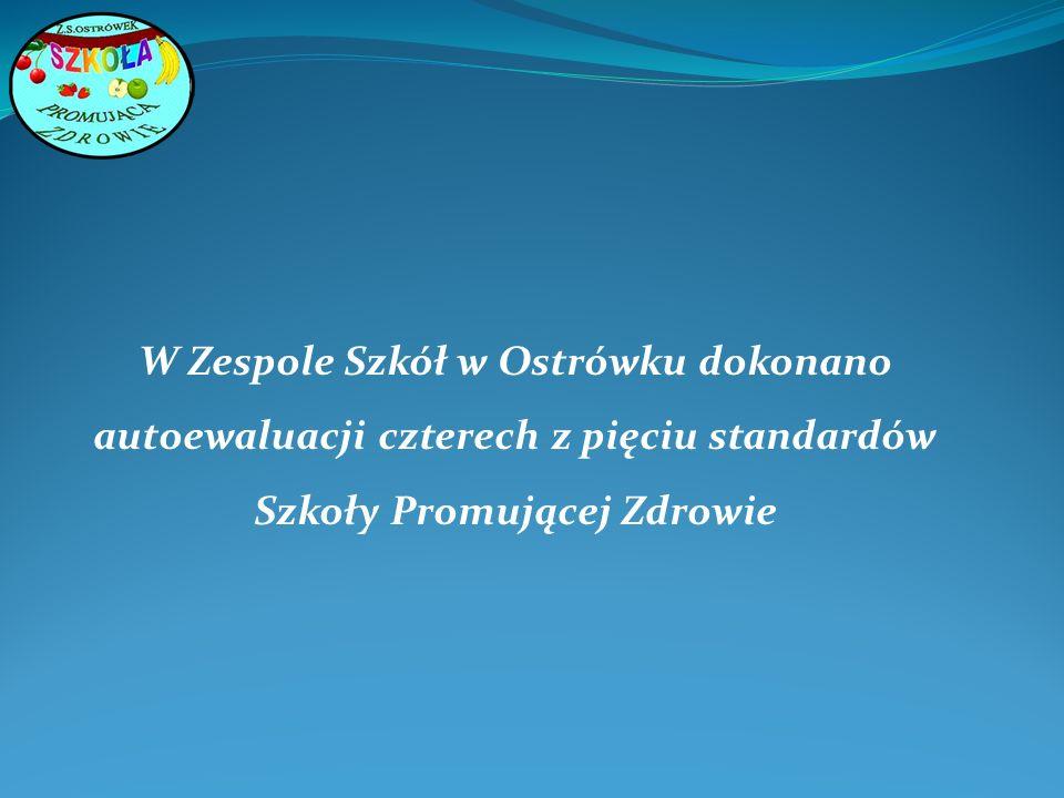 W Zespole Szkół w Ostrówku dokonano autoewaluacji czterech z pięciu standardów Szkoły Promującej Zdrowie